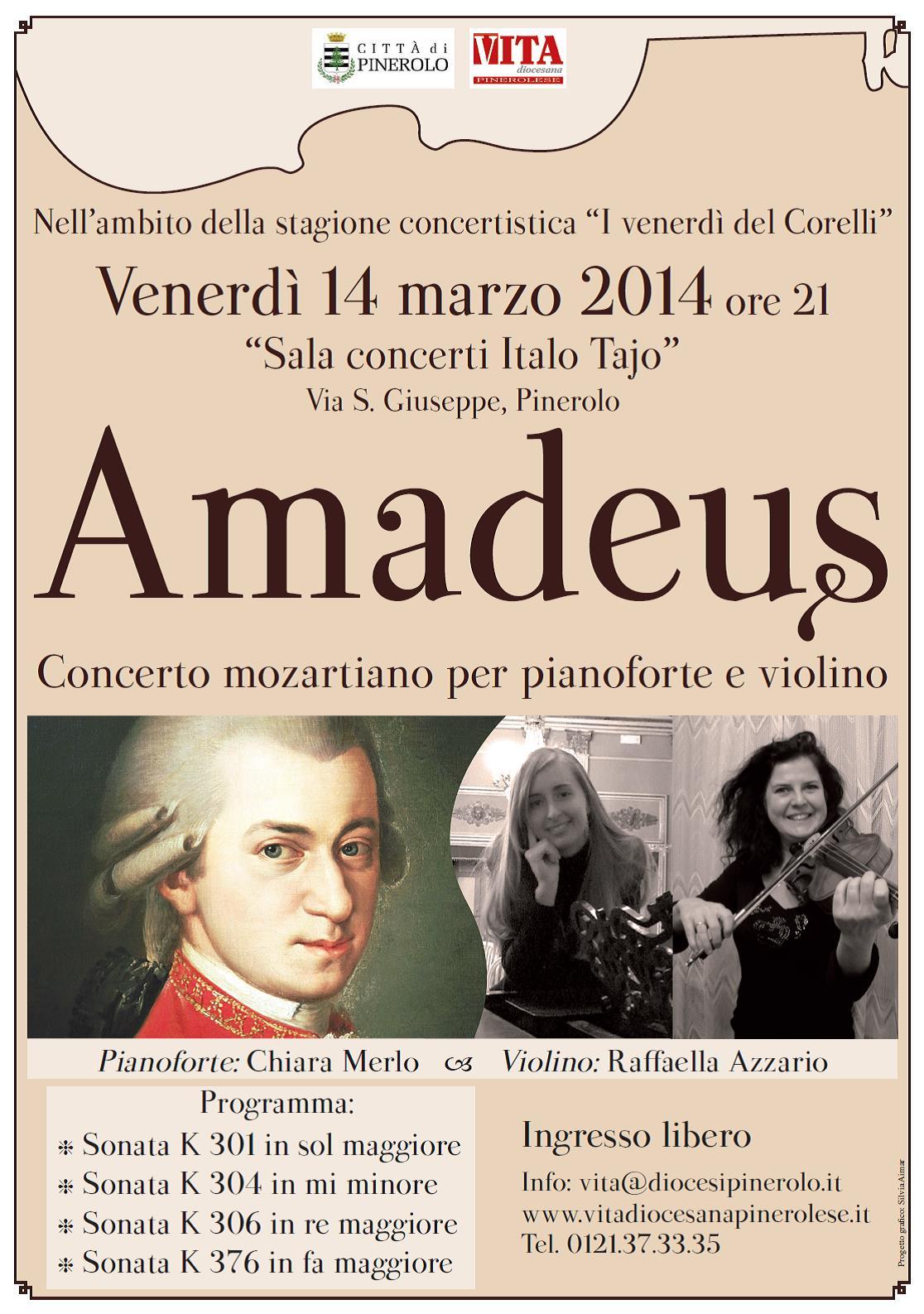A Pinerolo Mozart per pianoforte e violino