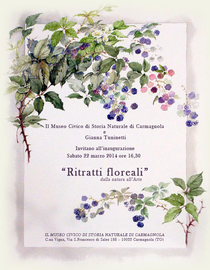 """""""Ritratti floreali"""" al Museo civico di storia naturale di Carmagnola"""