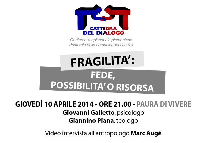Torino. Il 10 aprile Giannino Piana e Giovanni Galletto alla cattedra del dialogo
