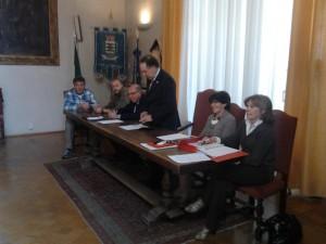 Conferenza stampa comune Pinerolo 18 aprile 2014