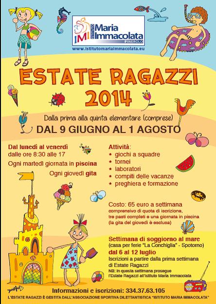Estate Ragazzi IMI 2014