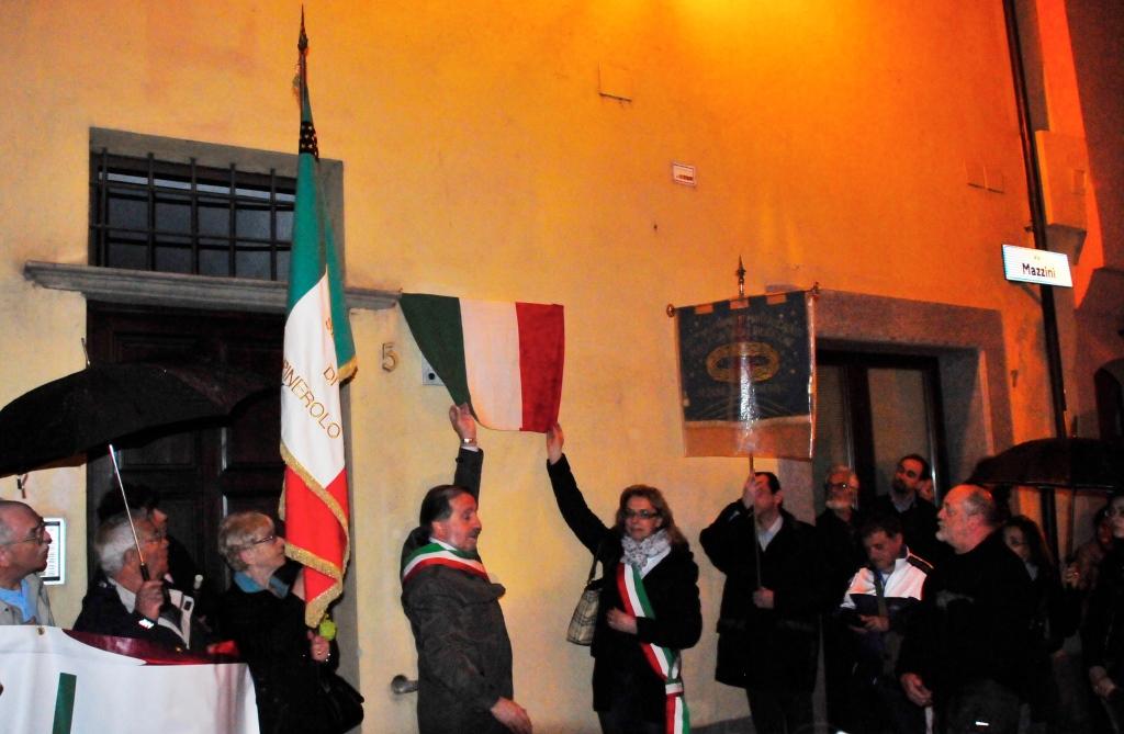 [ photogallery ] Pinerolo. Dedicata una lapide al partigiano Lorenzo Bianciotto