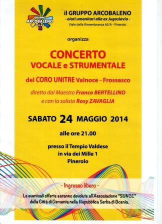 Pinerolo. Concerto pro Bosnia il 24 maggio