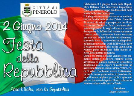 La dichiarazione del sindaco Eugenio Buttiero per la Festa della Repubblica