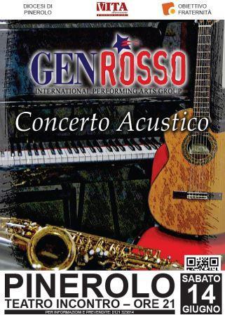 Gen Rosso in concerto a Pinerolo 14 giugno
