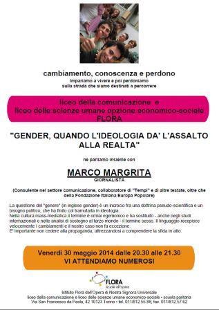 Incontro sul tema gender con Marco Margrita a Torino