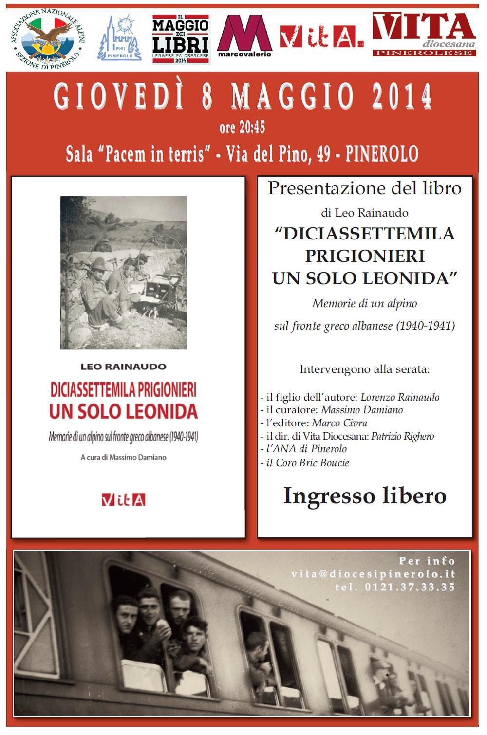 L'8 maggio la presentazione del diario di Leo Rainaudo