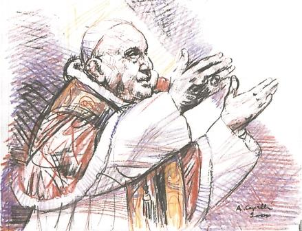 """""""Benedictio tua sit super nos semper"""", ritratto di Angelo Capelli"""
