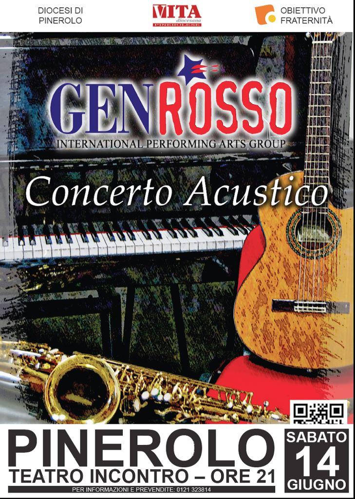 Gen Rosso in concerto a Pinerolo il 14 giugno