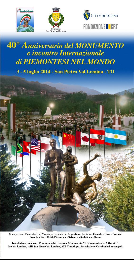 San Pietro Val Lemina. Quaranta anni di Piemontesi nel Mondo dal 3 al 5 luglio