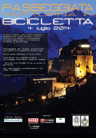 Passeggiata notturna in bicicletta ad Avigliana
