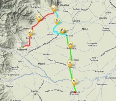 Un percorso ciclabile che parte da Pinerolo e arriva a Villafranca