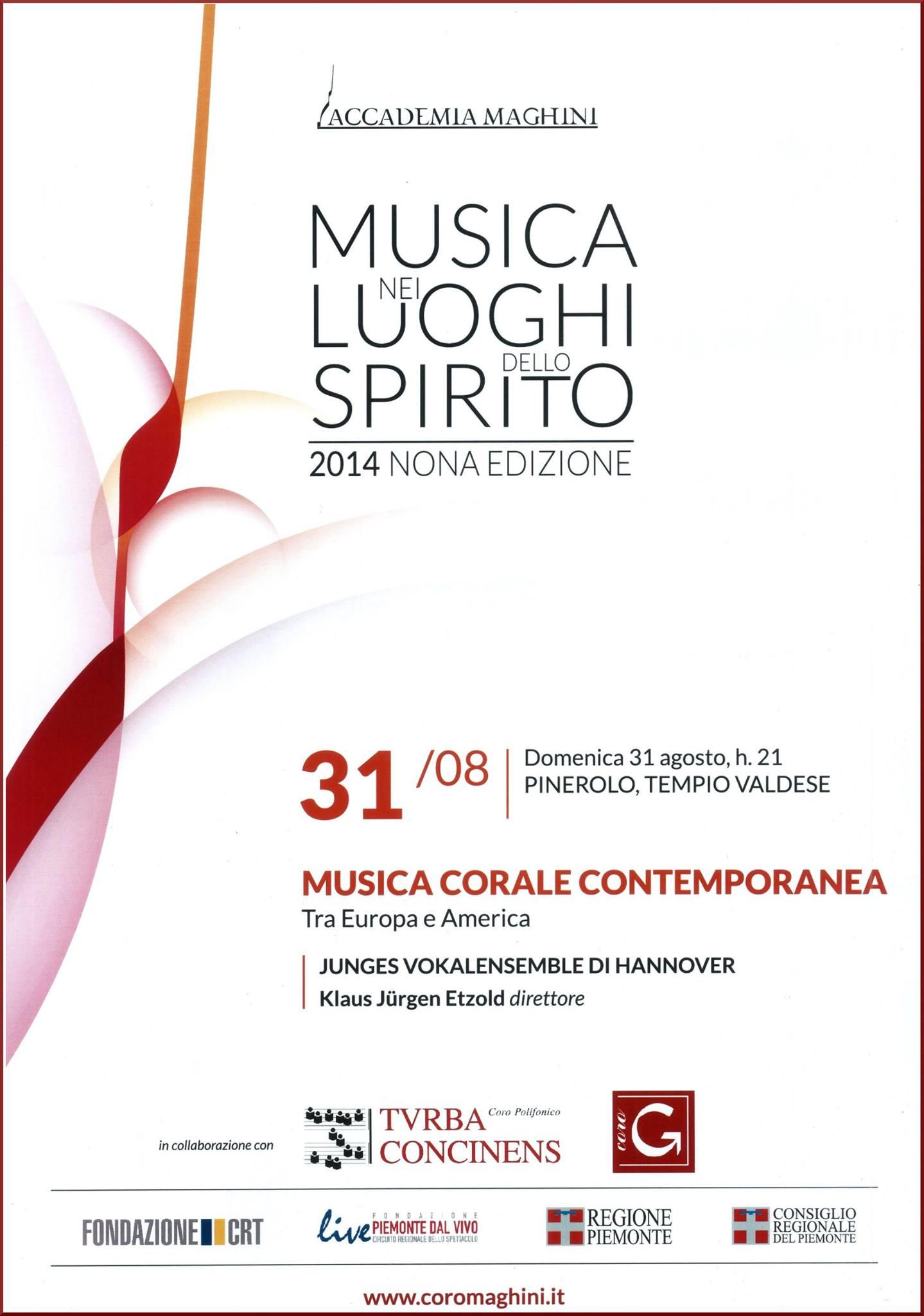 Pinerolo. Il 31 agosto un concerto del coro Junges Vokalensemble di Hannover