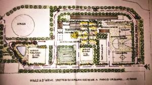 Lo schema di uno dei progetti di valorizzazione di piazza d'Armi
