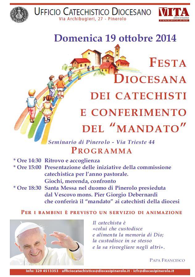 Mandato e festa dei catechisti