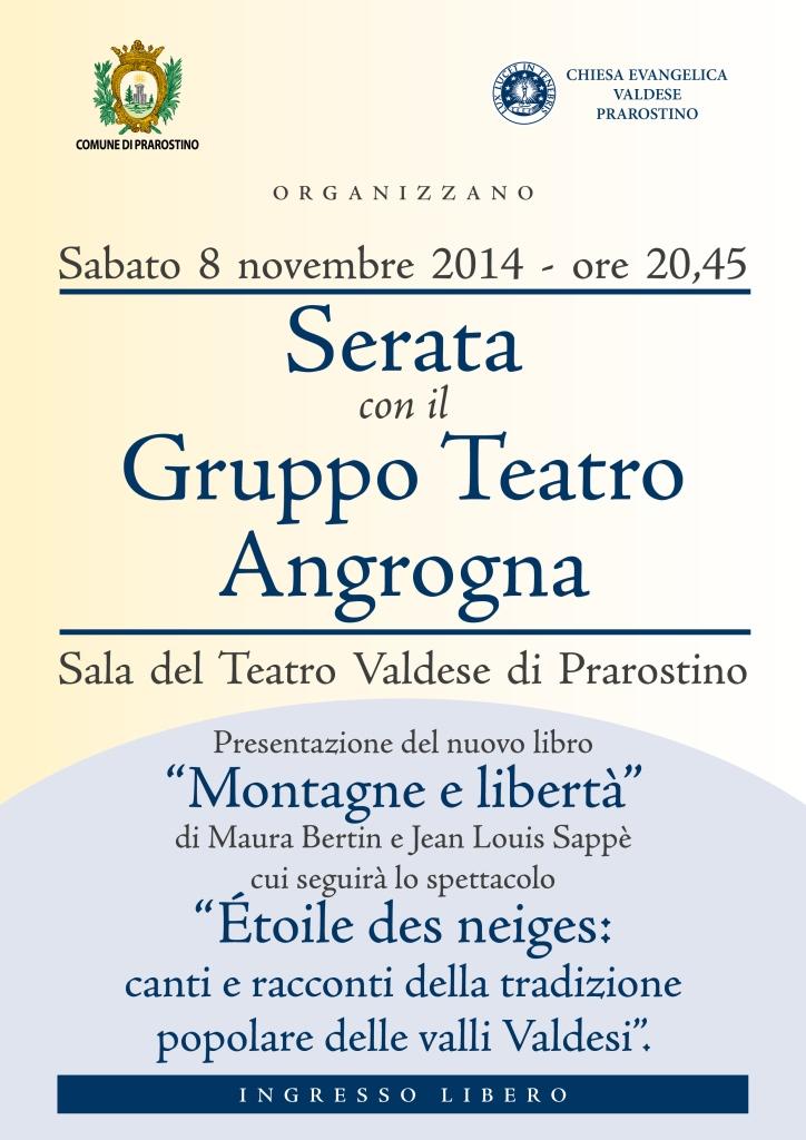 Prarostino. L'8 novembre una Serata a Teatro