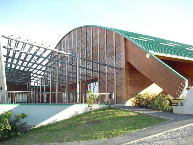 Il palazzetto dello sport di Cantalupa dove è avvenuto l'incidente.