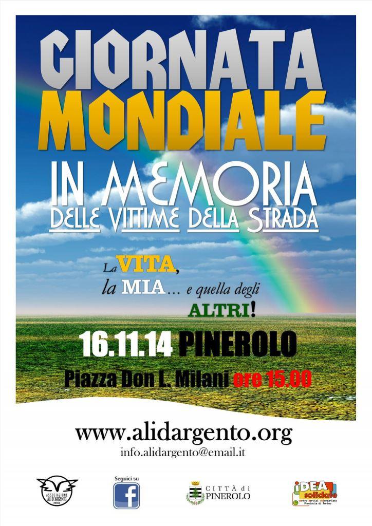 Pinerolo. Domenica 16 novembre la Giornata Mondiale in memoria delle Vittime della Strada