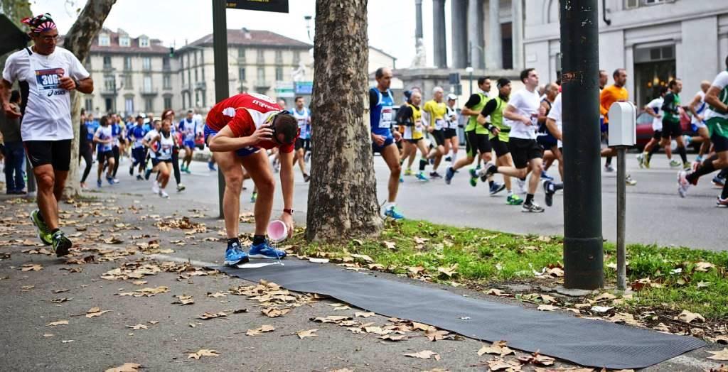 Jean-Paul Charles artista-atleta alla Turin Marathon