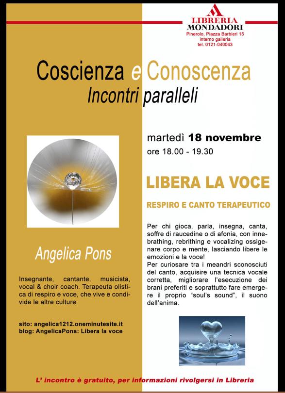 Conferenza su canto e respiro terapeutico alla Mondadori