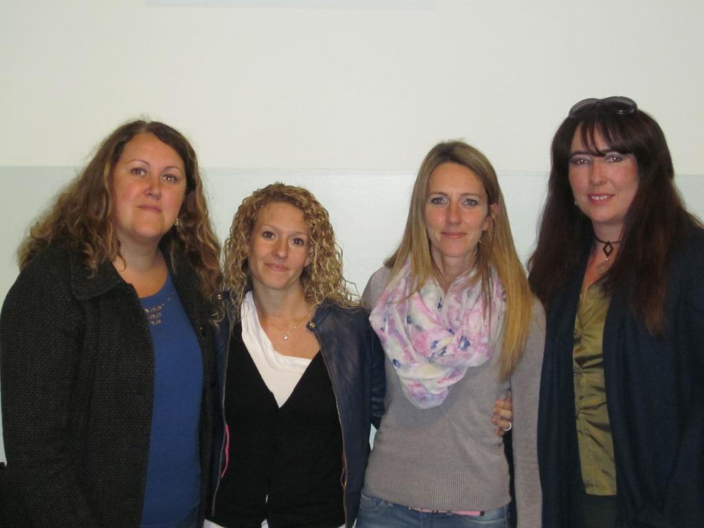 Da sinistra: Elisa Griotti, Stefania di Maria, Francesca Pamfili e l'avvocato Cristina Botto