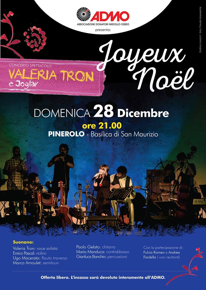Il 28 dicembre a San Maurizio concerto – spettacolo benefico per l'ADMO