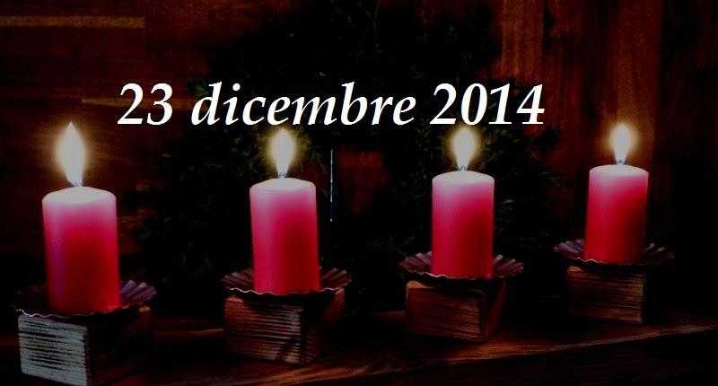 Cammino d'Avvento – 23 dicembre: Vieni o Emmanuele!