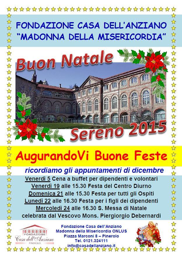 Pinerolo. Festa delle famiglie dei dipendenti e messa di Natale alla Casa dell'anziano
