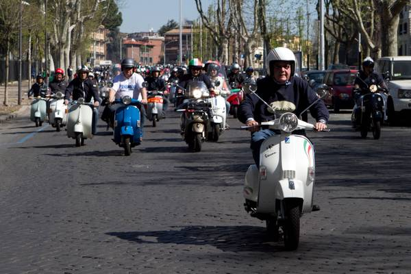 Da Bordighera a Pinerolo in Vespa