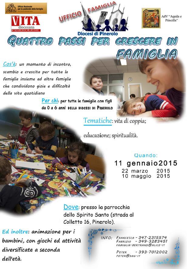 L'11 gennaio incontro per famiglie con figli da 0 a 6 anni