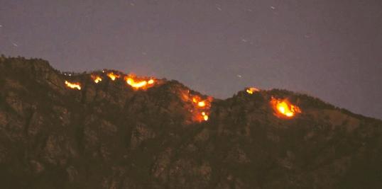 In poche ore gli AIB domano le fiamme sul colle Aragno