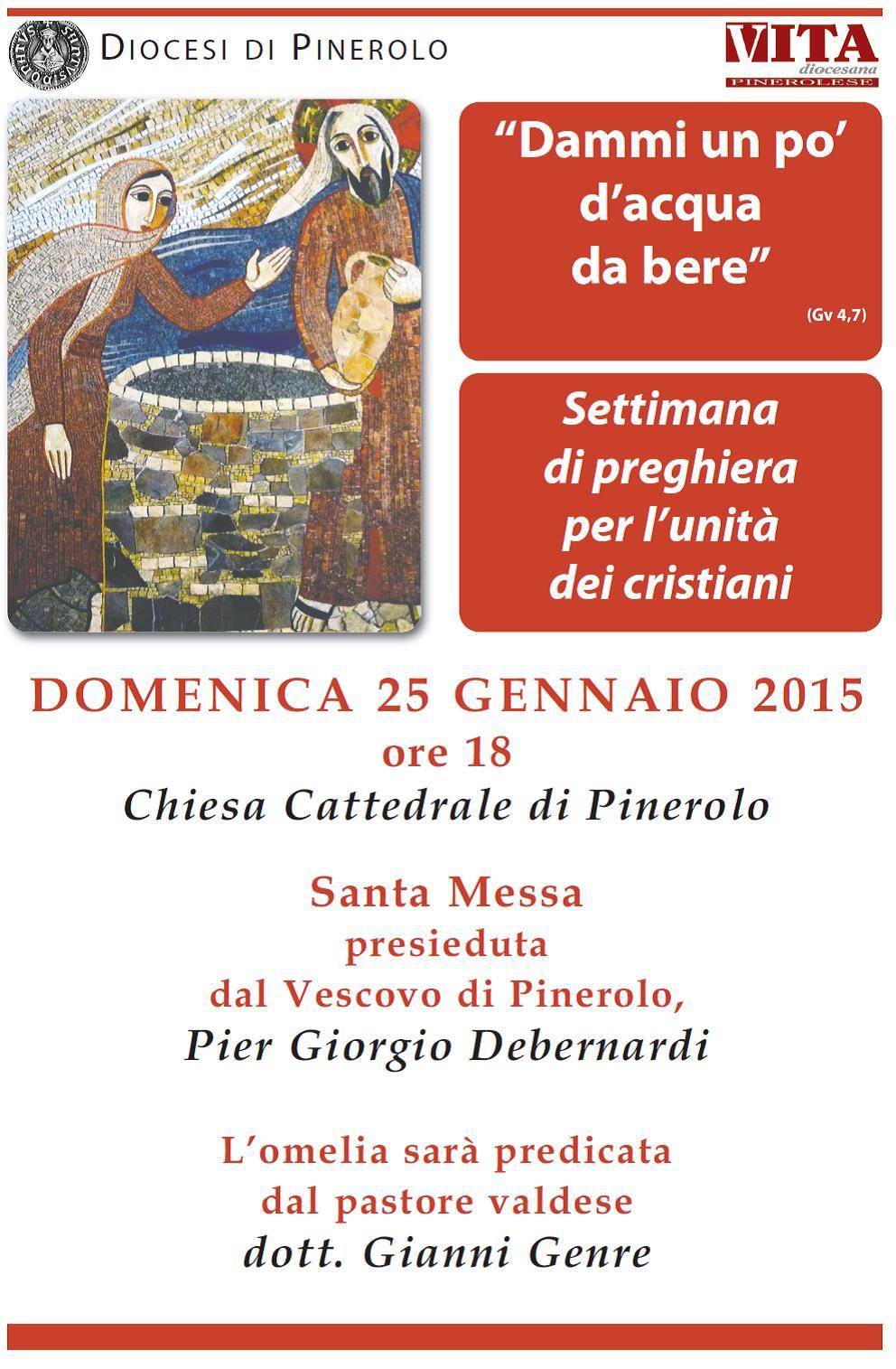 Il pastore Genre predica nella Cattedrale di Pinerolo