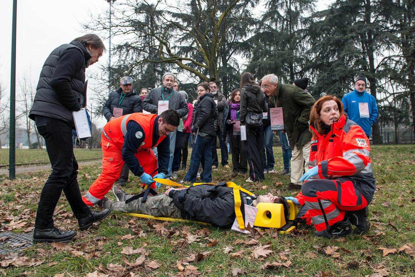 [ photogallery ] A Torino un grave incidente… ma è solo una simulazione