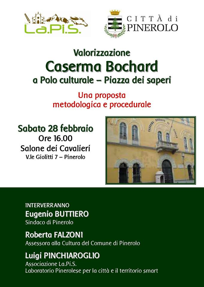 Polo culturale alla Bochard di Pinerolo. Il 28 febbraio un incontro pubblico
