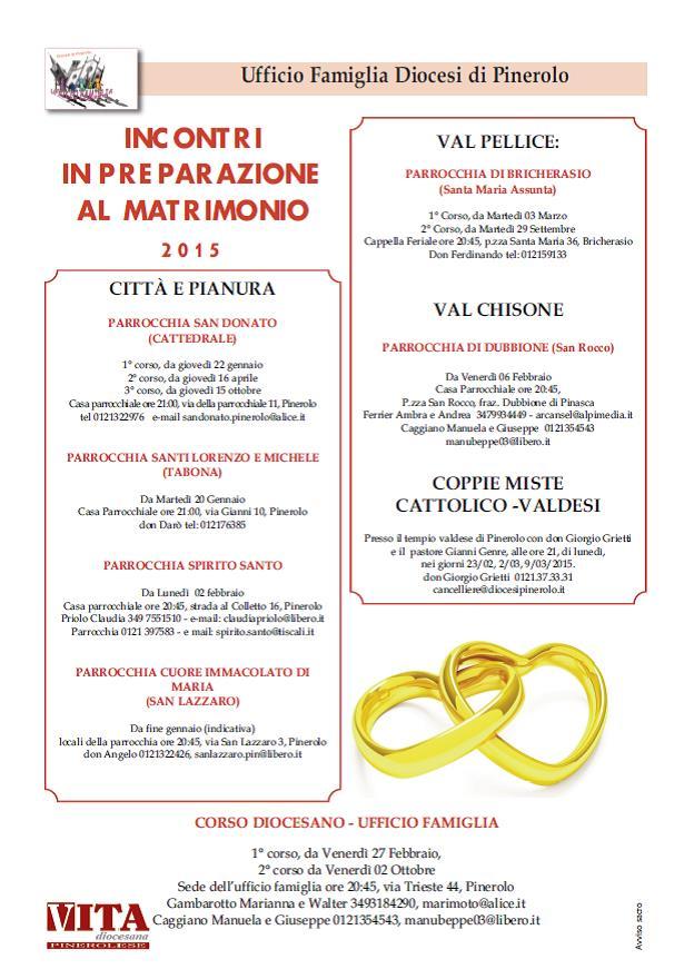 Preparazione al matrimonio: al via i corsi