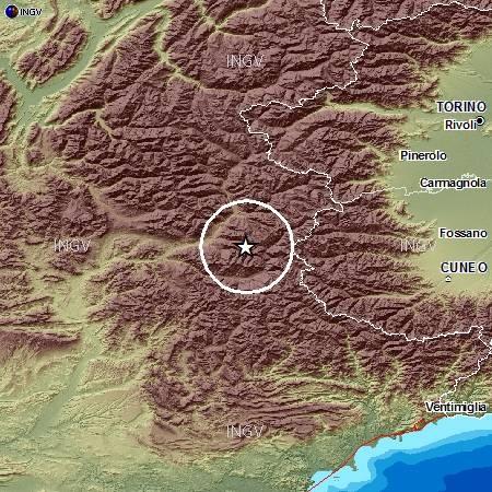Doppia scossa di terremoto avvertita nel pinerolese