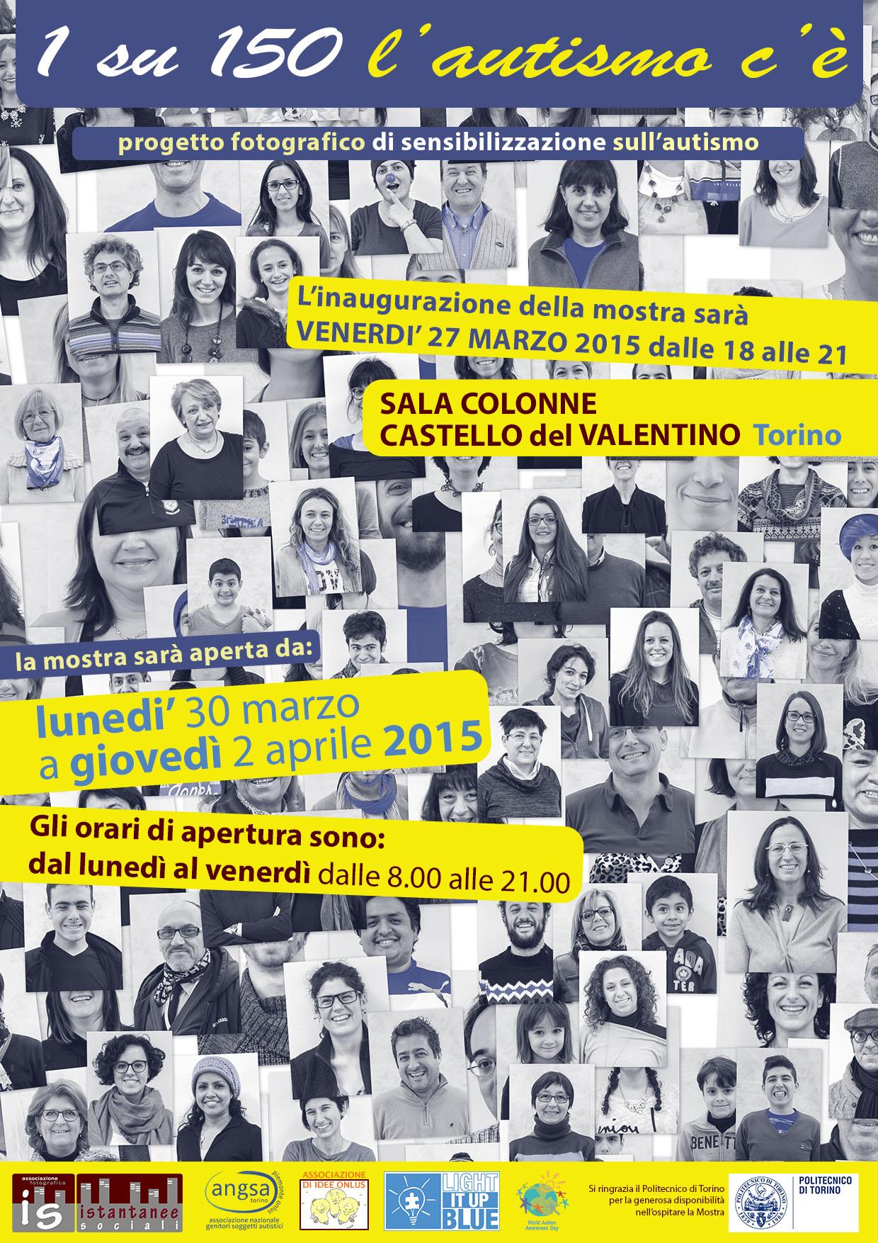 """""""1 su 150 l'autismo c'è"""" mostra fotografica al Castello del Valentino"""