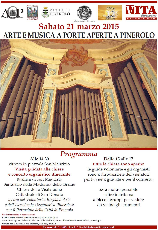 """Pinerolo. Sabato 21 marzo """"Arte e musica a porte aperte"""""""