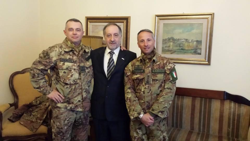 Il sindaco di Pinerolo ha ricevuto il Generale Panizzi e il Comandante Di Somma