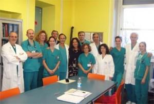 Lo staff del reparto di dialisi e nefrologia di Pinerolo