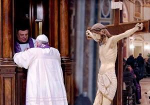 Papa Francesco al confessionale