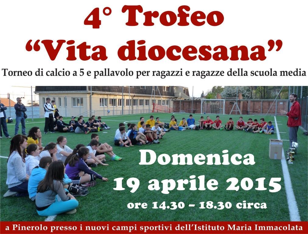 """Domenica 18 aprile a Pinerolo il """"Trofeo Vita Diocesana"""""""