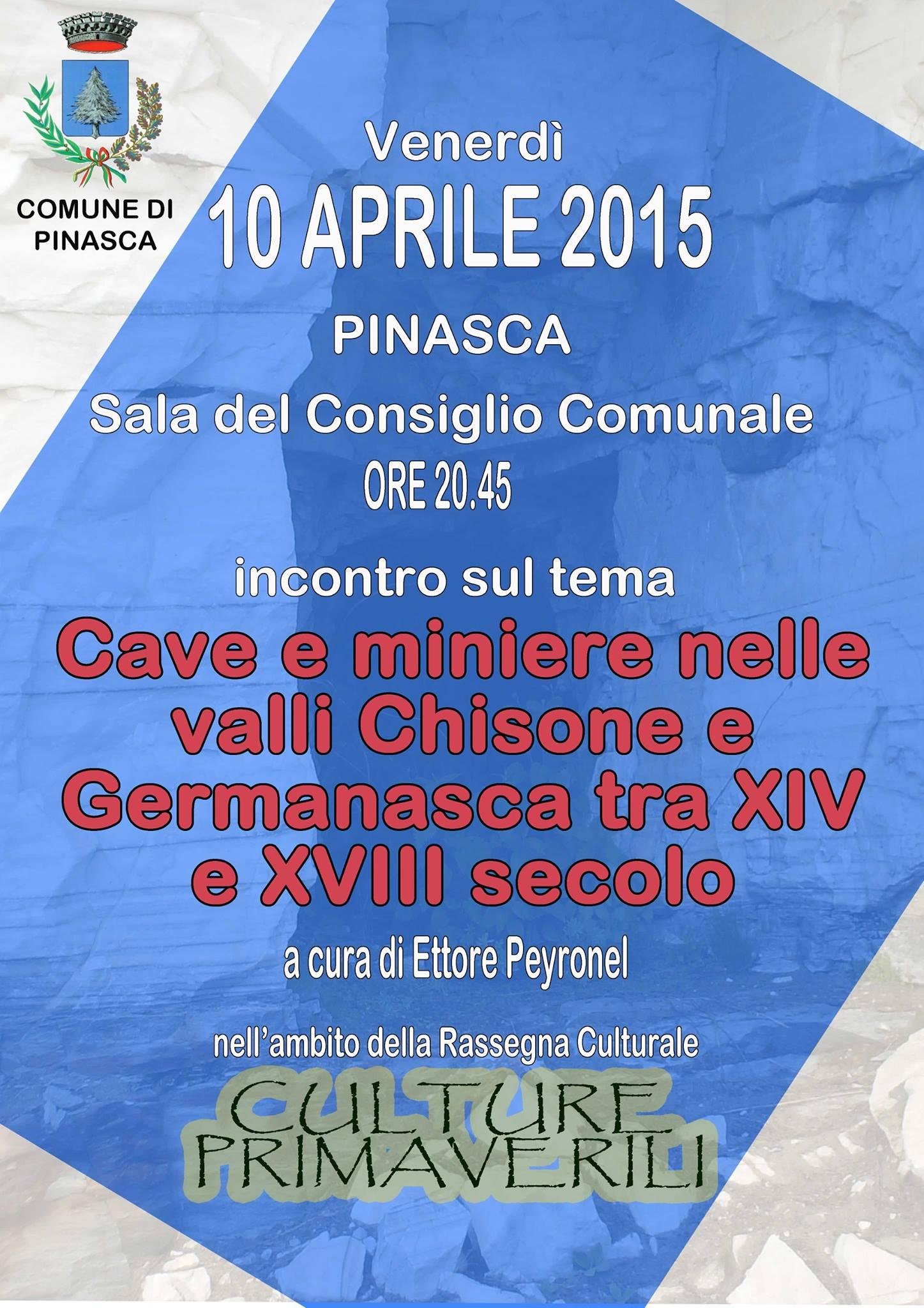 A Pinasca una conferenza sulle miniere nella valle