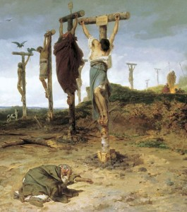 Allegato 1- Vita 6, Figura 1 [1878 - Fyodor An Bronnikov, Crocifissione Romana per Inchioatura Completa (Mani e Piedi)]