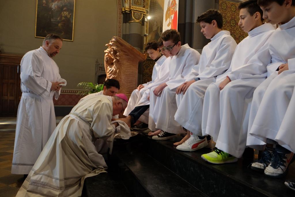 [photogallery] Messa in Coena Domini nella Cattedrale di Pinerolo