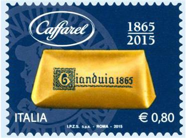Luserna. Il gianduiotto in un francobollo per il 150° della caffarel
