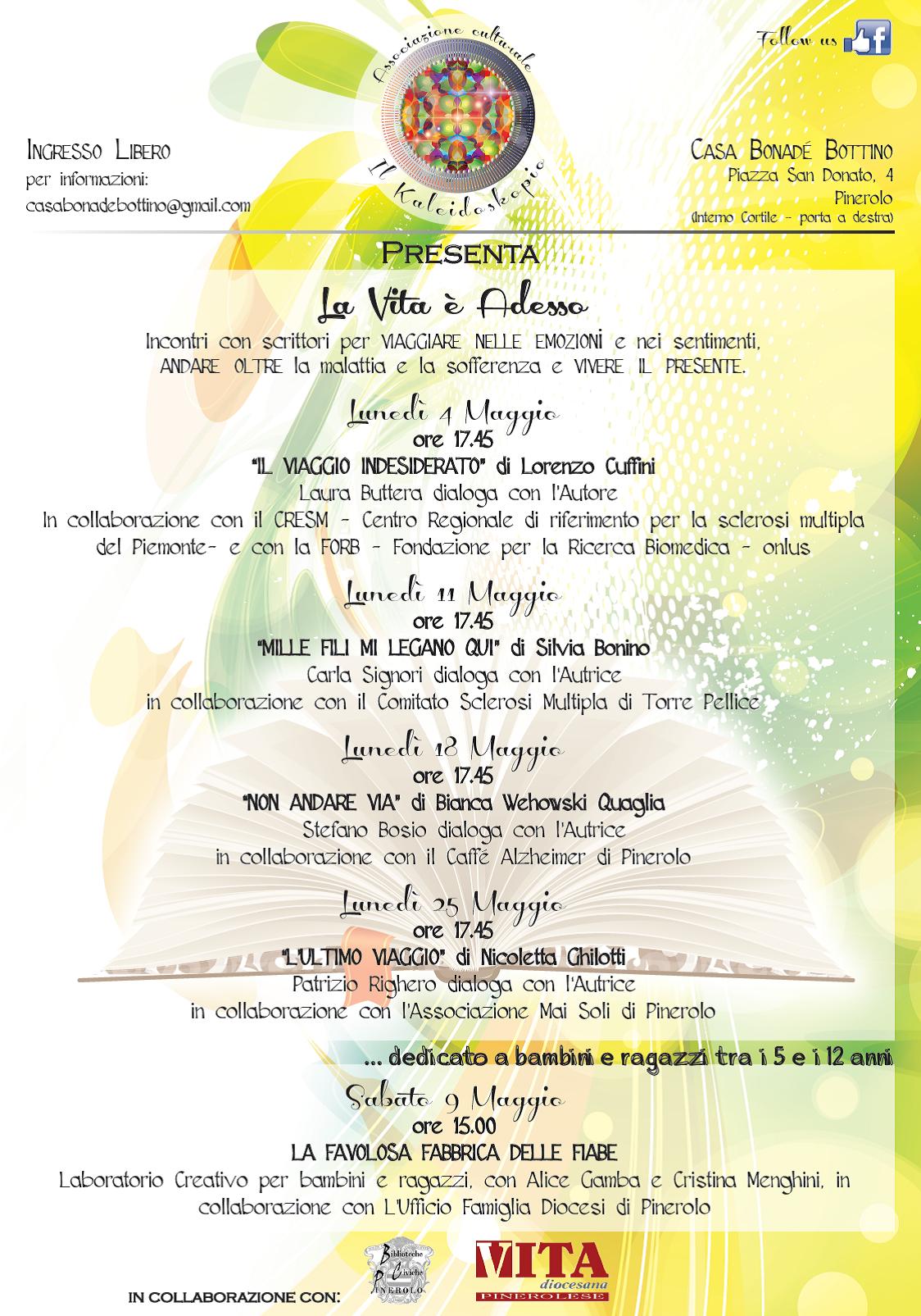 Dai libri alla vita: un ciclo di presentazioni letterarie a Pinerolo
