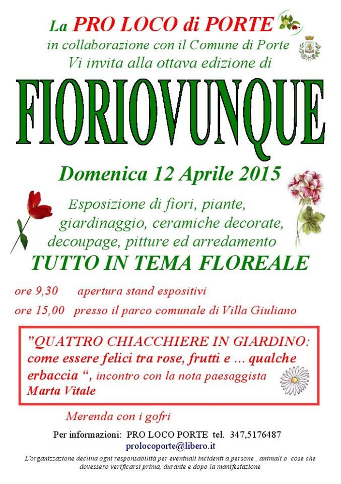 """Porte.VIII edizione di """"Fioriovunque"""""""