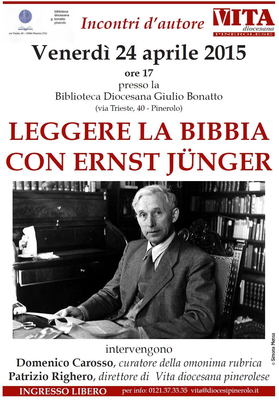 """""""Leggere la Bibbia con Ernst Jünger"""". Il 24 aprile un incontro a Pinerolo"""