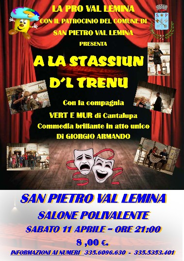 "I ""Vert e mür"" portano ""La stassiun d'l trenu"" a San Pietro Val Lemina"